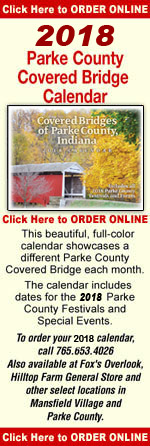 Get your copy of the 2017 Parke County Covered Bridge Calendar.
